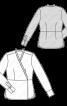 Блуза сорочкового крою з баскою - фото 3