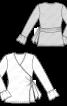 Пуловер з запахом і оборками на рукавах - фото 3