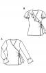 Пуловер з запахом і оборками на рукавах - фото 6