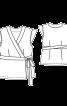Блузка приталена із запахом і зав'язками - фото 3