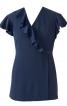 Блузка приталена з запахом і воланами - фото 2