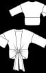 Блуза простора зі спущеними проймами - фото 3