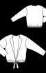 Блузон спортивного крою з вузькими лацканами - фото 3