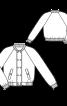 Блузон двобортний з коміром-стойкою - фото 3