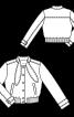 Блузон вельветовий із коміром-стойкою - фото 3