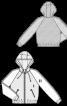 Блузон з рукавами реглан і капюшоном - фото 3
