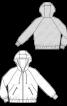 Блузон оксамитовий з капюшоном - фото 3