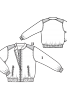 Блузон з контрастними плечовими кокетками - фото 3