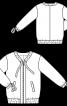 Блузон в спортивному стилі зі стрічками-зав'язками - фото 3