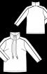 Пуловер с высоким воротником  - фото 3