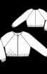 Блузон в спортивному стилі без коміра - фото 3