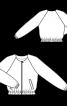 Блузон з рукавами реглан без коміра - фото 3