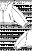 Блузон короткий з просторими рукавами - фото 3