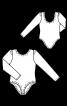 Боді з довгими рукавами і широким вирізом - фото 3
