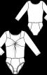 Боді з драпіровкою і рукавами 3/4 - фото 3