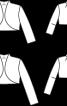 Жакет болеро із суцільнокроєним коміром-стойкою - фото 3