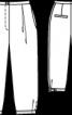 Бриджі з глибокими складками біля пояса - фото 3
