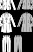 Жакет приталеного силуету з шалевим коміром - фото 3