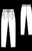 Брюки джоггеры трикотажные на эластичном поясе - фото 3