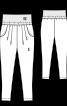 Брюки-джоггеры на широком эластичном поясе - фото 3