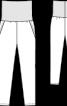 """Брюки з """"вареного"""" шовку на трикотажному поясі - фото 3"""