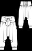 Брюки-шальвари на широкому поясі - фото 3