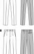 Брюки класичного крою завуженого силуету - фото 3