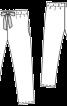 Брюки в піжамному стилі на еластичному поясі - фото 3