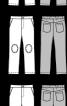 Брюки прямого крою в джинсовому стилі - фото 3