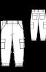 Брюки карго з накладними кишенями - фото 3