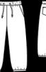 Брюки з парусини на трикотажному поясі - фото 3