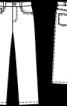 Брюки прямого крою з п'ятьма кишенями - фото 3