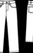 Брюки вельветові з п'ятьма кишенями - фото 3