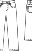Джинси вельветові з п'ятьма кишенями - фото 3
