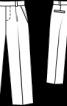 Брюки класичного крою з габардину - фото 3