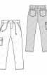 Брюки джинсові на еластичному поясі - фото 3