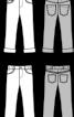 Брюки джинсові з одворотами - фото 3