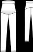 Брюки вузького крою з еластичною вставкою для живота - фото 3