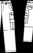 Брюки карго вельветові - фото 3