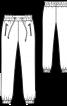 Брюки джогери з кишенями на блискавках - фото 3
