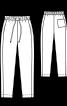 Брюки в спортивному стилі на еластичному поясі зі шнуром - фото 3