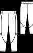 Брюки-джогери з рельєфними швами - фото 3