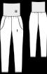 Брюки-джогеры на широком трикотажном поясе - фото 3