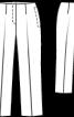 Брюки без пояса довжиною 7/8 - фото 3