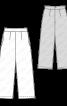 Брюки прямого крою з кишенями у швах - фото 3