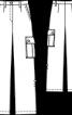 Брюки прямого крою з накладними кишенями - фото 3