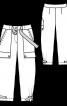 Брюки карго с большими карманами - фото 3