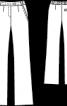 Брюки прямого силуету з фасонним поясом - фото 3