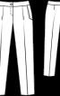 Брюки завуженого крою з боковими кишенями - фото 3