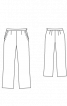 Брюки класичного крою з кишенями - фото 3